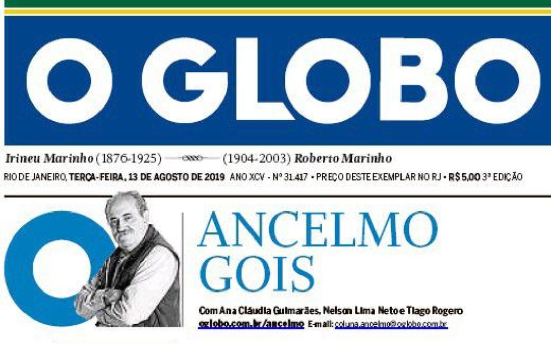 Freitas Pinho é notícia na Coluna do Ancelmo – Jornal O Globo