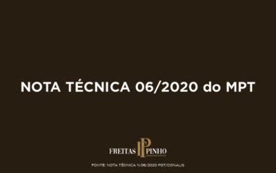 Nota Técnica 06/2020 do MPT